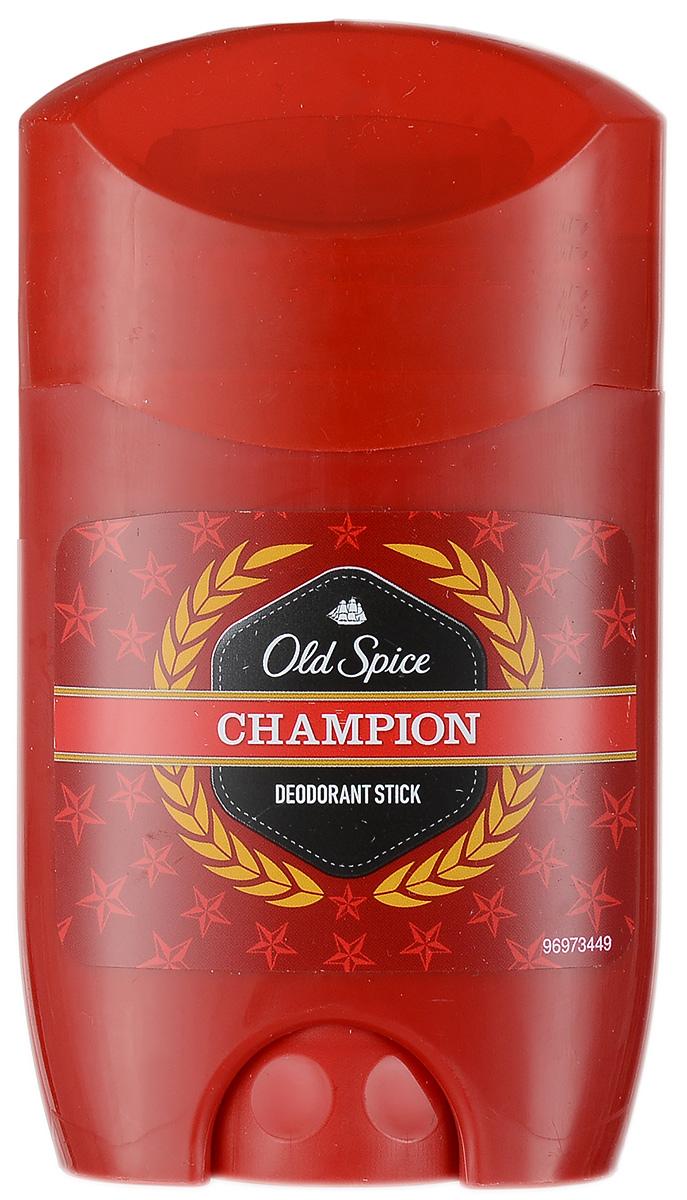 Old Spice Дезодорант-стик Champion, 50 мл34650_голубой, розовыйТолько для настоящих мужчин!Дезодорант Old Spice Champion для эффективного предотвращения запаха пота.Великолепный аромат и надежная защита. Характеристики:Объем: 50 мл. Производитель: Чехия. Товар сертифицирован.