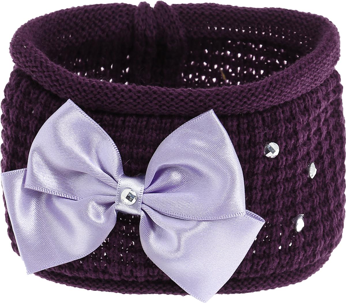 Baby's Joy Повязка для волос цвет темно-фиолетовый сиреневый K 21 K 21_бордовый, фиолетовый