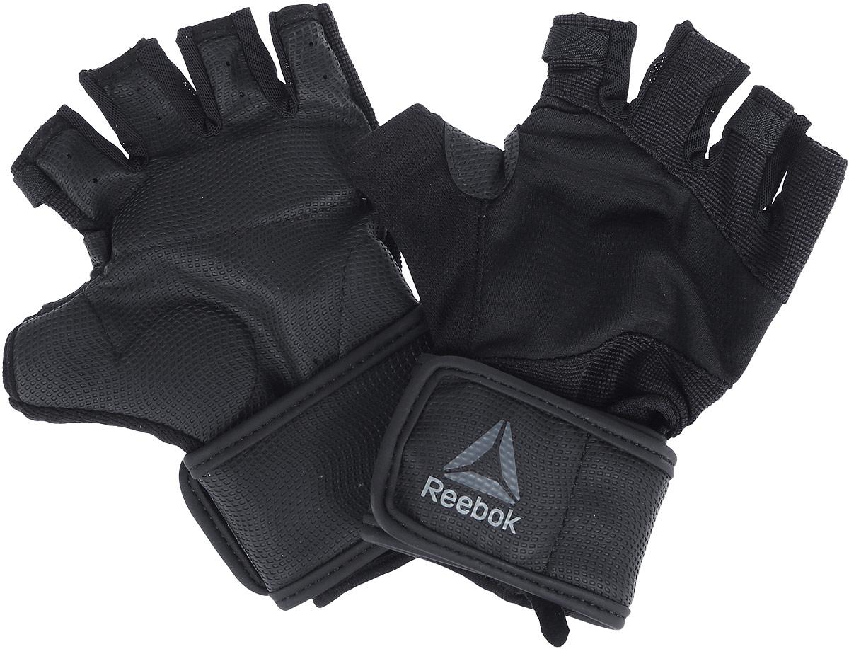 Перчатки для фитнеса Reebok Os U Wrist Glove, цвет: черный. Размер M (20)BK6293Перчатки Reebok Os U Wrist Glove надежно защищают руки во время упражнений с весами. Поддержка запястий защитит суставы, а технология Speedwick отводит влагу с поверхности кожи, оставляя ощущение сухости и комфорта. Амортизирующие силиконовые вставки на ладонях поглощают энергию удара, а сетчатая структура обеспечивает эффективную вентиляцию. Перчатки выполнены из нескольких материалов для вентиляции и уверенного хвата. Ремешок на запястье служит для оптимальной посадки. Длина перчаток: 18 см. Ширина перчаток: 9 см.