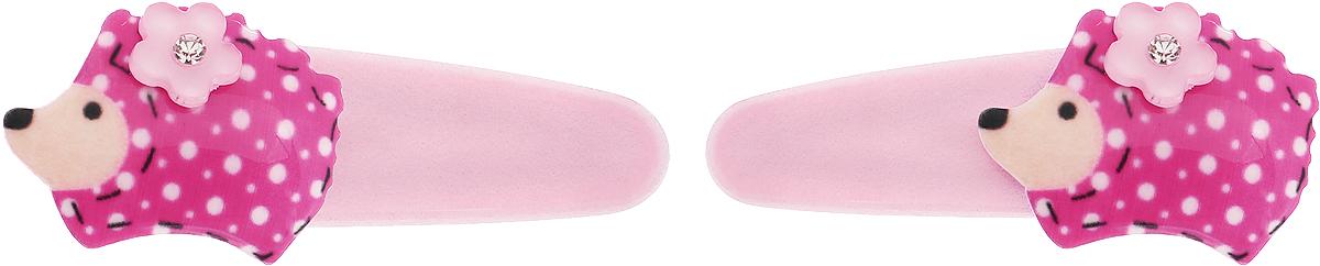 Baby's Joy Заколка для волос Ежик цвет светло-розовый розовый 2 шт