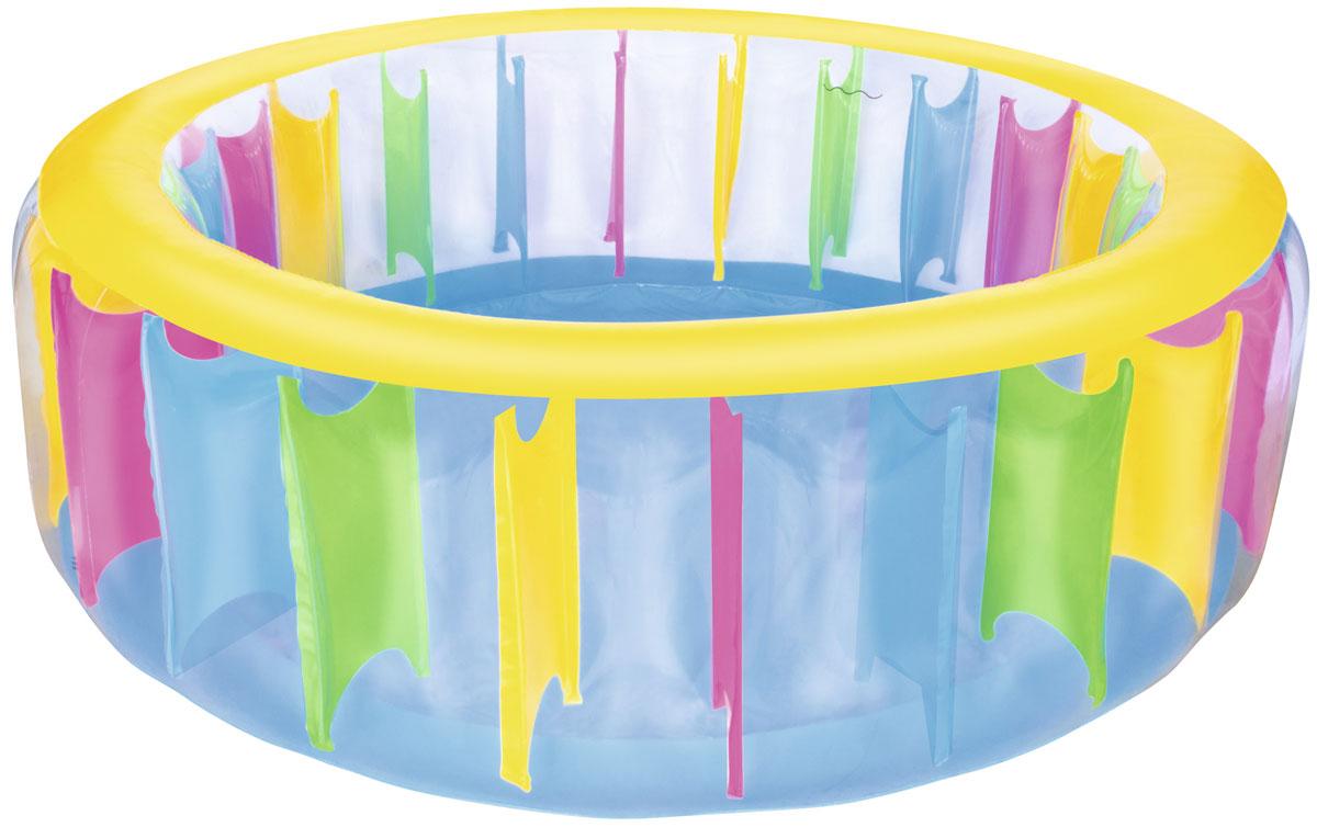 Bestway Надувной бассейн Разноцветный81-334Бассейн надувной для детей от 6 лет. Размер 183*61 см. Объем 775 л. Изготовлено из полимерных материалов (винил). Простой в использовании дренажный клапан и слив воды.