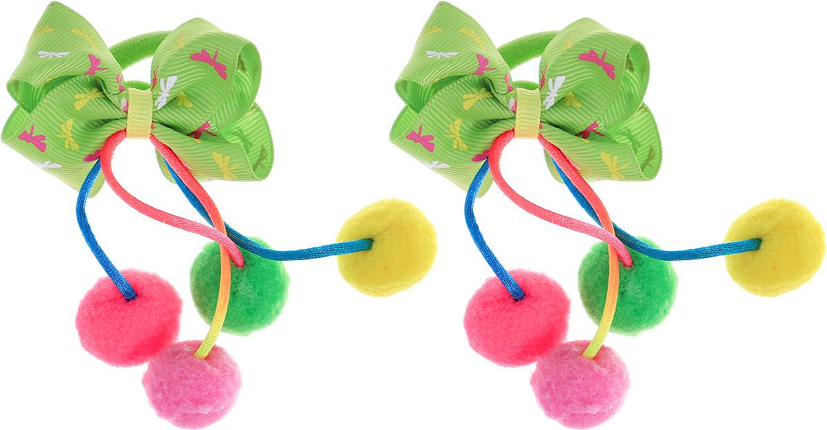 Babys Joy Резинка для волос Помпоны цвет зеленый розовый желтый 2 шт MN 202/2MN 202/2_зеленый, розовый, желтыйРезинка для волос Babys Joy с бантом зеленого цвета дополнена атласными шнурками, с пришитыми к ним яркими помпонами. Резинка позволит не только убрать непослушные волосы с лица, но и придать образу романтичности и очарования. Резинка для волос Babys Joy подчеркнет уникальность вашей маленькой модницы и станет прекрасным дополнением к ее неповторимому стилю.