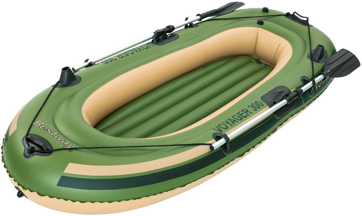 Bestway Лодка надувная гребная с вёслами и насосом1418839_серыйБыстрое надувание и сдувание. Веревка по периметру лодки. Надувное дно. Пластиковые ручки для переноски.Изготовлено из полимерных материалов. В комплекте: весла (длина 145 см). Размер надутой лодки: 243 х 102 см. Максимальная нагрузка: 170 кг. Вместимость: 2 человека.