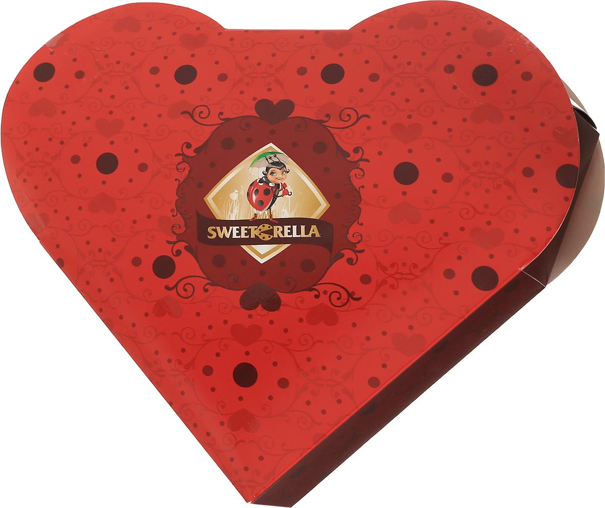 Sweeterella набор шоколадных конфет пламенное сердце, 170 гиба038Пламенно-красное сердце в стилистике Sweeterella подойдет как в качестве подарка к 14 февраля, так и для любимой к 8 марта - подарков никогда не бывает много! Набор шоколадных конфет в форме сердца: - шоколадные конфеты из молочного шоколада с начинкой Клубника со сливками; - шоколадные конфеты из темного шоколада с начинкой Цитрусовый микс. Уважаемые клиенты! Обращаем ваше внимание, что полный перечень состава продукта представлен на дополнительном изображении.