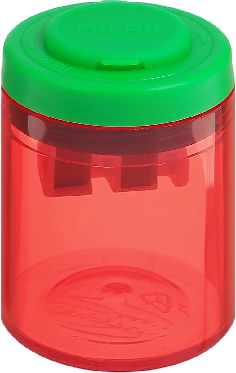 Milan Точилка Collection с контейнером цвет красный зеленыйFS-54103Дизайнерская точилка Milan Collection оснащена безопасной системой заточки.Эта система предотвращает отделение лезвия от точилки. Идеально подходит для использования в школах. Стальное лезвие острое и устойчиво к повреждению. Идеально подходит для заточки графитовых и цветных карандашей