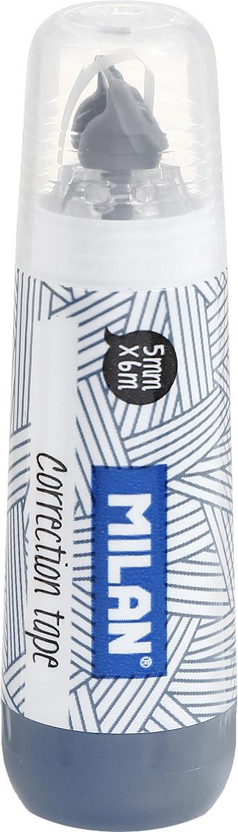 Milan Корректирующая лента цвет серый1301000_серыйЛента Milan корректирует быстро, чисто и точно. Подходит для всех типов бумаг. Размер 5 мм на 6 м.
