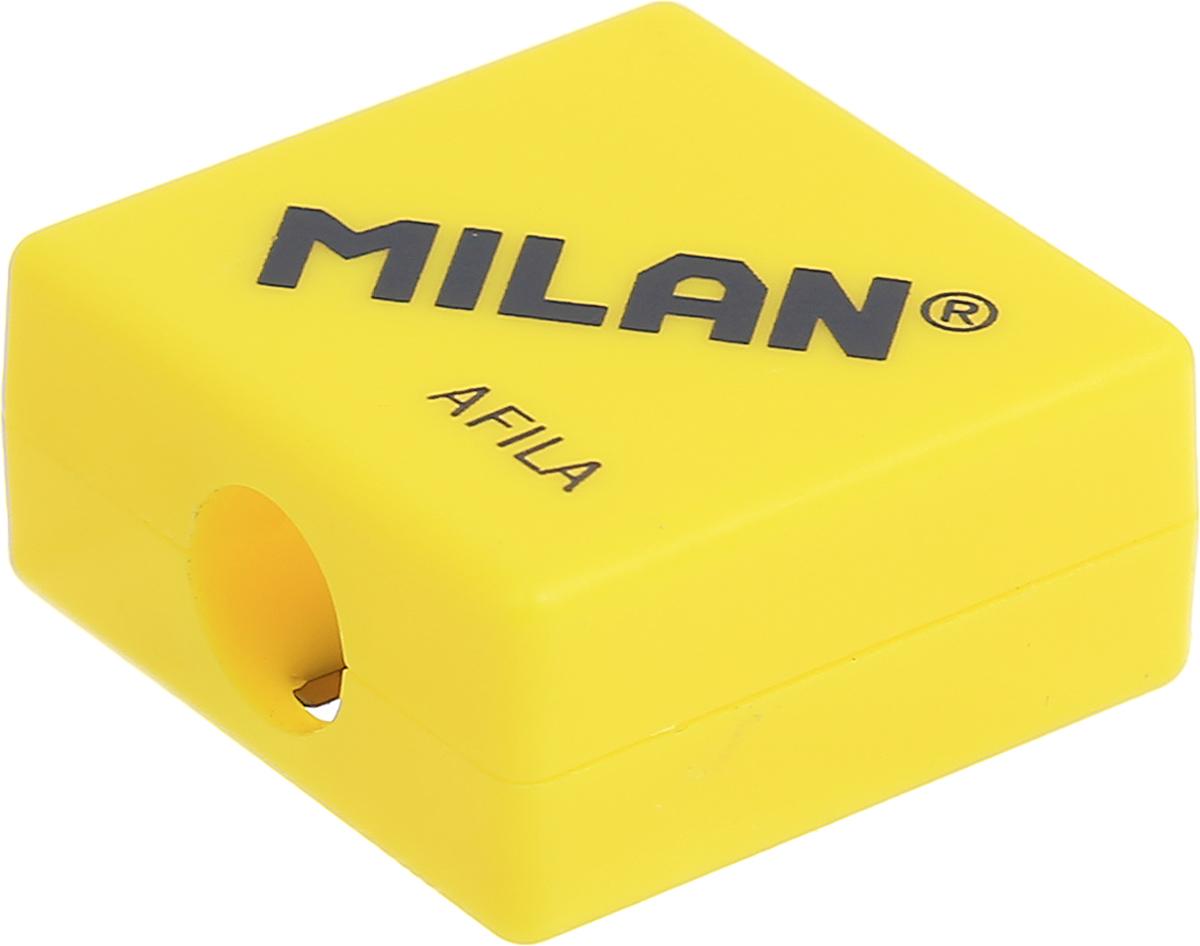 Milan Точилка Afila цвет желтый20140932_желтыйКомпактная точилка Milan Afila оснащена безопасной системой заточки. Эта система предотвращает отделение лезвия от точилки. Идеально подходит для использования в школах. Стальное лезвие острое и устойчиво к повреждению. Идеально подходит для заточки графитовых и цветных карандашей