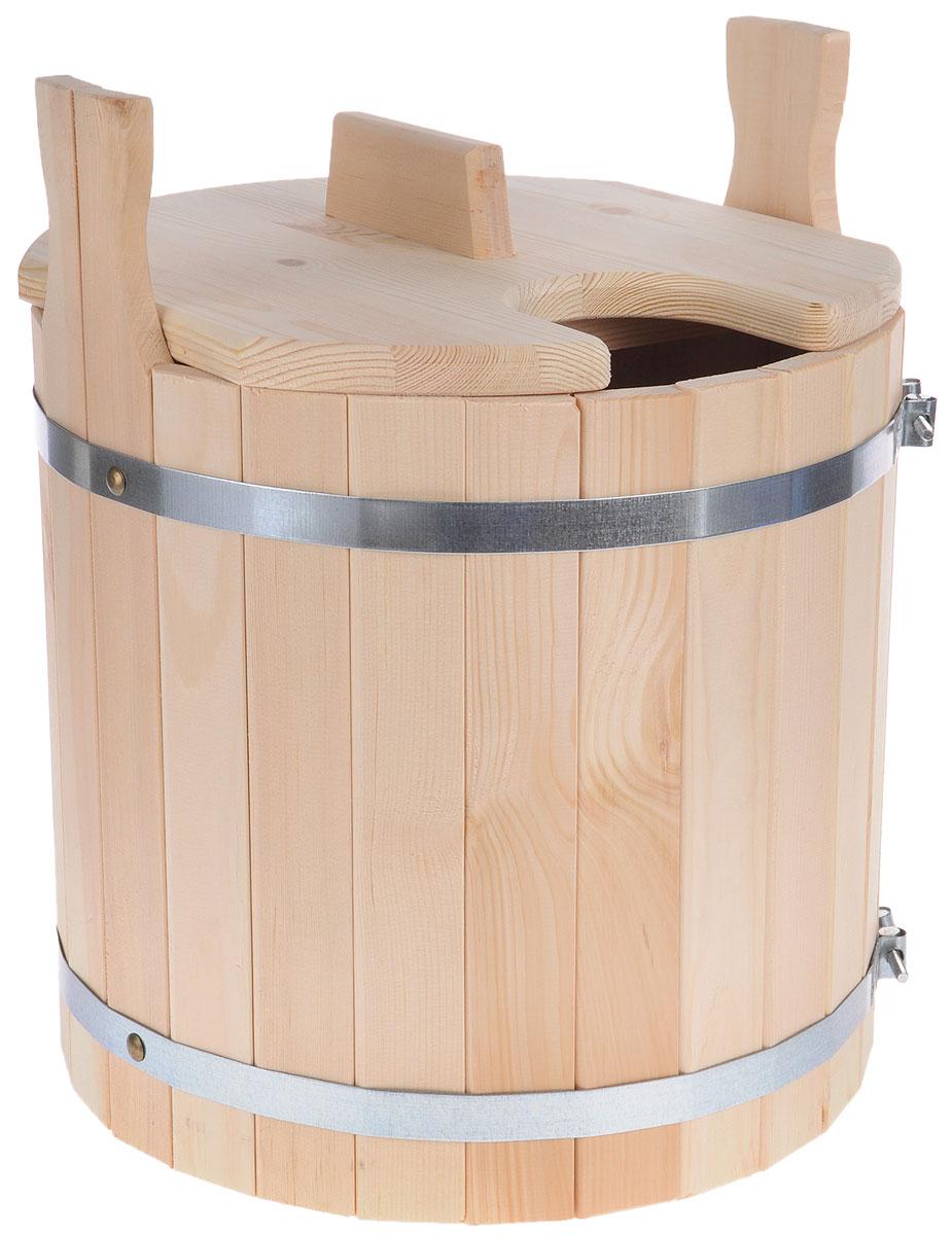 Запарник для бани Доктор Баня, с крышкой, 25 л8326Запарник Доктор Баня, изготовленный из кедра, доставит вам настоящее удовольствие от банной процедуры. При запаривании веник обретает свою природную силу и сохраняет полезные свойства. Корпус запарника состоит из металлических обручей стянутых клепками. Для более удобного использования запарник имеет по бокам две ручки и крышку. Высота запарника (с учетом ручек): 43 см. Диаметр запарника: 36 см. Объем: 25 л.