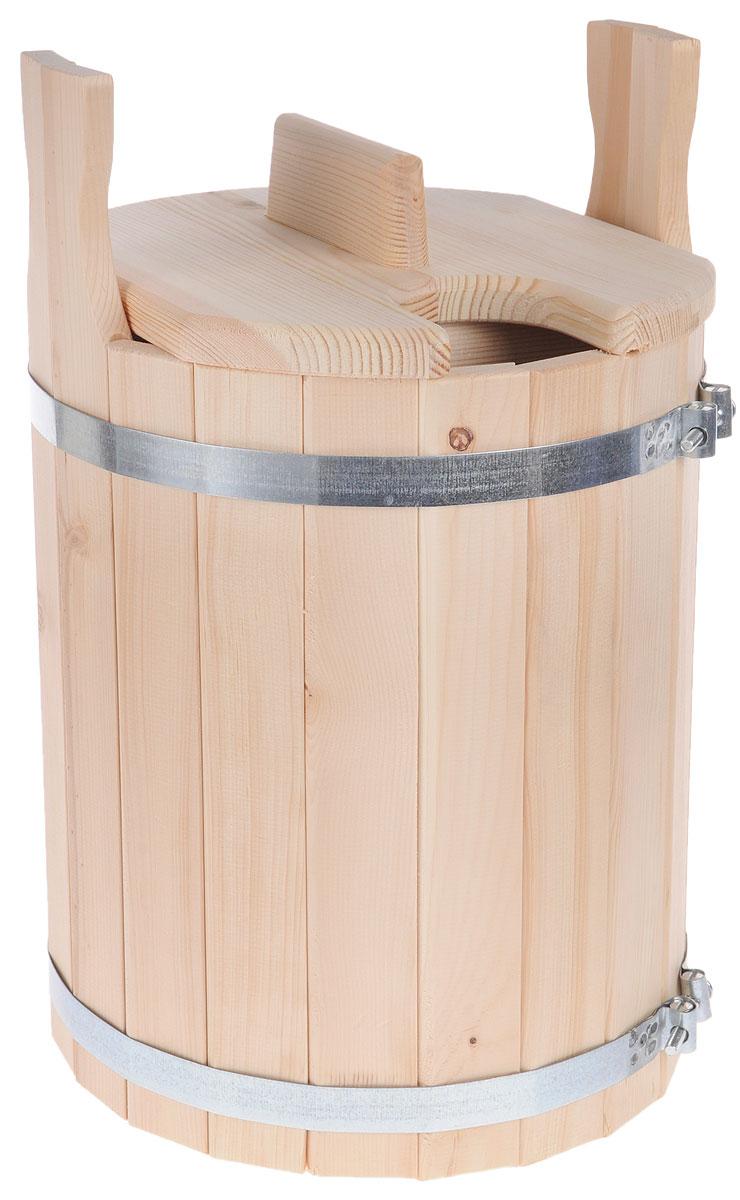 Запарник для бани Доктор Баня, с крышкой, 11 л905171Запарник Доктор Баня, изготовленный из кедра, доставит вам настоящее удовольствие от банной процедуры. При запаривании веник обретает свою природную силу и сохраняет полезные свойства. Корпус запарника состоит из металлических обручей стянутых клепками. Для более удобного использования запарник имеет по бокам две ручки и крышку. Высота запарника (с учетом ручек): 43 см. Диаметр запарника: 28 см. Объем: 11 л.