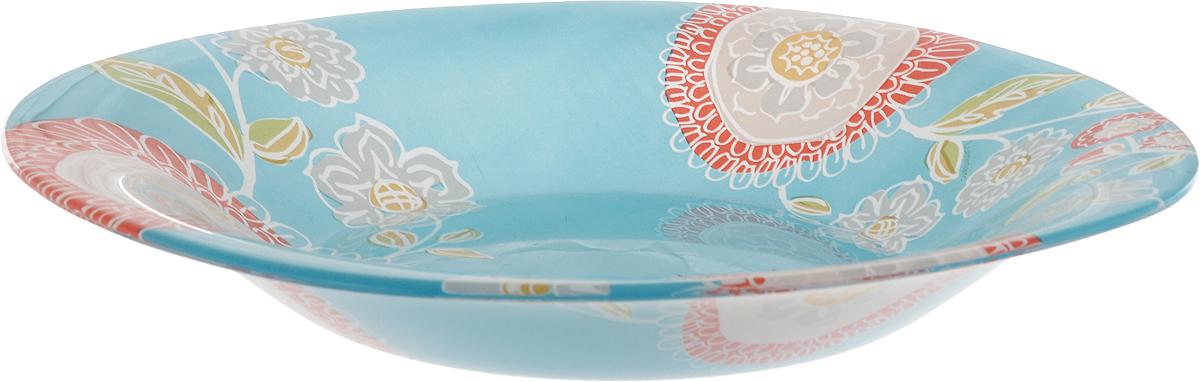 Тарелка суповая Luminarc Silene Glass, 20,5 х 20,5 смVT-1520(SR)Суповая тарелка Luminarc Silene Glass выполнена из ударопрочного стекла и украшена изображением цветов. Изделие сочетает в себеизысканный дизайн с максимальной функциональностью. Она прекрасно впишется в интерьер вашей кухни и станет достойным дополнением к кухонному инвентарю. Тарелка Luminarc Silene Glass подчеркнет прекрасный вкус хозяйки и станет отличным подарком. Размер тарелки: 20,5 х 20,5 см.Высота тарелки: 3 см.