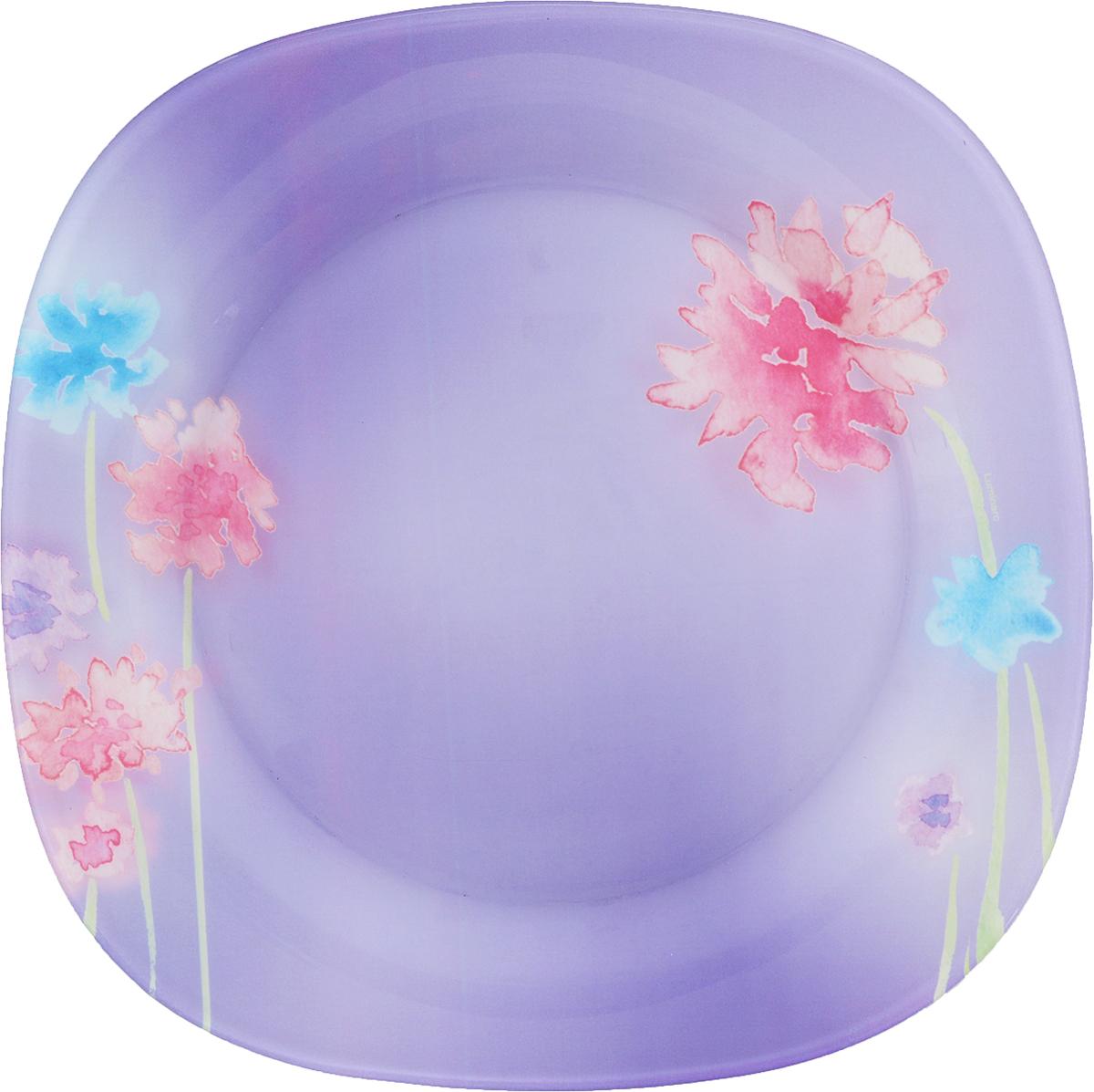 Тарелка обеденная Luminarc Angel Purple, 25 х 25 смJ1753Обеденная тарелка Luminarc Angel Purple изготовлена из высококачественного стекла. Изделие сочетает в себе изысканный дизайн с максимальной функциональностью. Тарелка прекрасно впишется в интерьер вашей кухни и станет достойным дополнением к кухонному инвентарю. Такое изделие не только украсит ваш кухонный стол и подчеркнет прекрасный вкус хозяйки, но и станет отличным подарком. Размер тарелки: 25 х 25 см. Высота тарелки: 1,5 см.