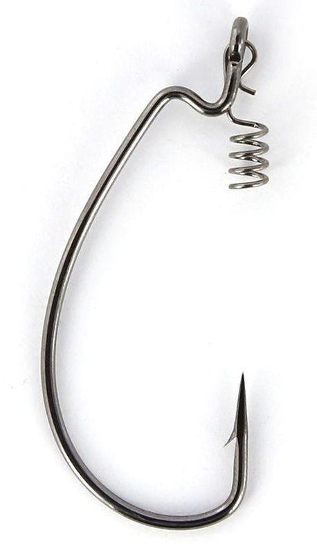 Крючки офсетные Yoshi Onyx Offset Hook Magna Big Eye, HD 1, с пружинкой, 5 шт96272Офсетные кованные крючки Yoshi Onyx Offset Hook Magna Big Eye с химической заточкой выполнены из высококачественной стали. Но острота и прочность это не главные их достоинства. Во-первых, крючки спроектированы с увеличенным ушком, благодаря чему, теперь не придется тщательно выбирать для них разборный груз. Даже самая толстая проволока любой чебурашки с легкостью пройдет в ушко. Это обеспечит подвижность и легкость шарнирного монтажа. А во-вторых, производитель положил в упаковку еще и волшебный бонус - пружинки для монтажа силиконовых приманок. Пружинки нужны для того, чтобы при поклевках приманка, как это частенько бывает не измочаливалась и не рвалась. Наши эксперты заметили, что при монтаже силикона на пружину, приманка живет в несколько раз дольше, чем при ее классическом монтаже на офсетный крючок.