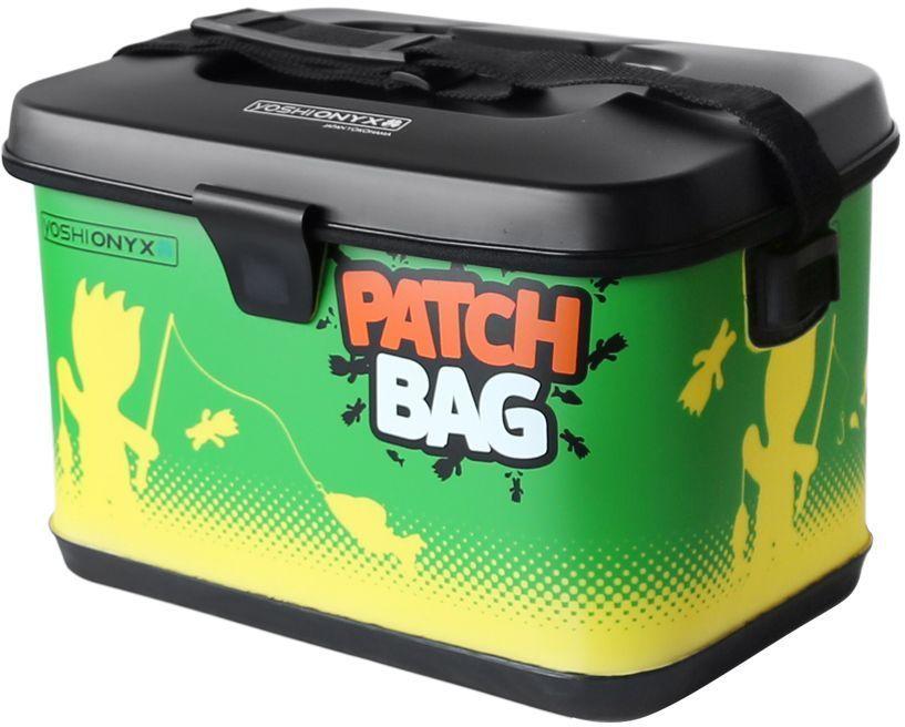 Сумка для снастей Yoshi Onyx Patch Bag, цвет: желтый, зеленый96807Яркая, водонепроницаемая сумка для снастей. Изготовлена из качественного материала EVA, который легко поддается чистке и мойке, с очень хорошим качеством прокраски и оригинальным узнаваемым рисунком. Сумка закрывается на молнию, но если вам нужно иметь возможность быстро сменить приманку, то можно воспользоваться фиксацией крышки липучкой с помощью одного касания. Для удобной переноски сумка оснащена наплечным ремнем, который можно отрегулировать по длине.. В сумку можно поместить большие фирменные коробки Yoshi Onyx для снастей. Сумка Yoshi Onyx Patch Bag - невероятно яркий и красивый элемент рыболовного современного снаряжения, созданный приносить радость от рыбалки.