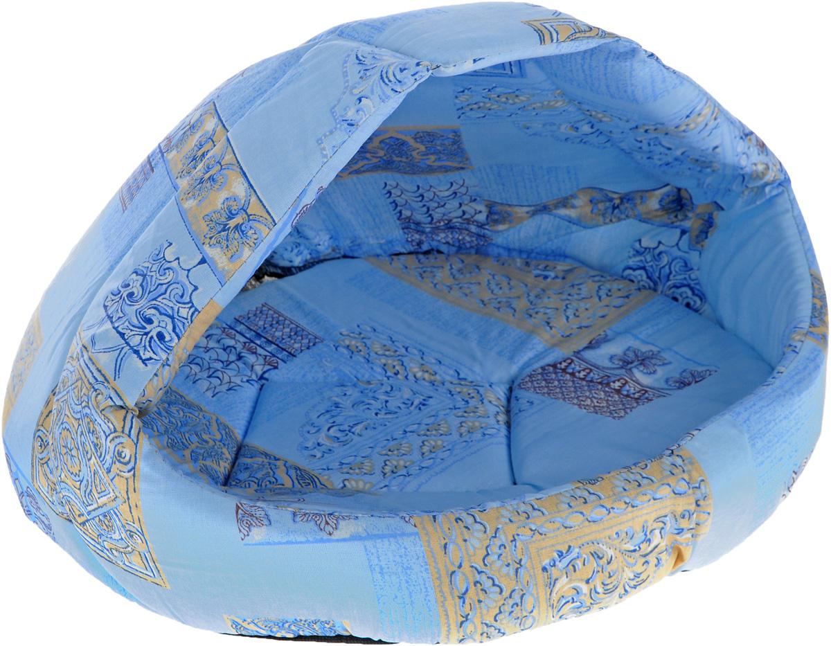 Лежак для животных Elite Valley Лукошко, цвет: голубой, бежевый, 55 х 47 х 45 см. Л-13/4Л-13/4_голубой, бежевыйЛежак Elite Valley Лукошко непременно станет любимым местом отдыха вашего домашнего животного. Изделие выполнено из бязи и нетканого материала, а наполнитель - из поролона. Такой материал не теряет своей формы долгое время. Внутри имеется мягкая съемная подстилка. На таком лежаке вашему любимцу будет мягко и тепло. Он подарит вашему питомцу ощущение уюта и уединенности, а также возможность спрятаться.