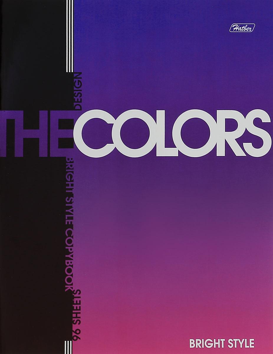 Hatber Тетрадь The Colors 96 листов в клетку цвет фиолетовыйSMA510-V8-ETТетрадь Hatber The Colors отлично подойдет для занятий школьнику, студенту или для различных записей.Обложка, выполненная из плотного металлизированного картона, украшена изображением английских букв.Внутренний блок тетради, соединенный металлическими скрепками, состоит из 96 листов белой бумаги в голубую клетку с полями.