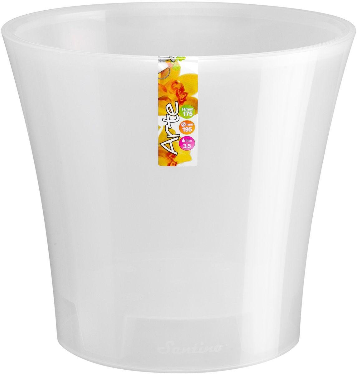 Горшок цветочный Santino Арте, двойной, с системой автополива, цвет: прозрачный, 2 л531-301Горшок цветочный Santino Арте снабжен дренажной системой и состоят из кашпо и вазона-вкладыша. Изготовлен из пластика.Особенность: тарелочка или блюдце не нужны.Горшок предназначен для любых растений или цветов. Цветочный дренаж – это система, которая позволяет выводить лишнюю влагу через корневую систему цветка и слой почвы. Растение – это живой организм, следовательно, ему необходимо дышать. В доступе к кислороду нуждаются все части растения: -листья; -корневая система.Если цветовод по какой-либо причине зальет цветок водой, то она буквально вытеснит из почвенного слоя все пузырьки кислорода. Анаэробная среда способствует развитию различного рода бактерий. Безвоздушная среда приводит к загниванию корневой системы, цветок в результате увядает.Суть работы дренажной системы заключается в том, чтобы осуществлять отвод лишней влаги от растения и давать возможность корневой системе дышать без проблем. Следовательно, каждому цветку необходимо:-иметь в основании цветочного горшочка хотя бы одно небольшое дренажное отверстие. Оно необходимо для того, чтобы через него выходила лишняя вода, плюс ко всему это отверстие дает возможность циркулировать воздух.-на самом дне горшка необходимо выложить слоем в 2-5 см (зависит от вида растения) дренаж.