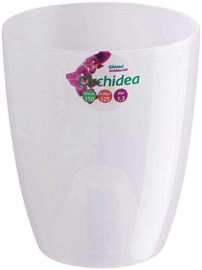"""Горшок цветочный Santino """"Орхидея"""", цвет: прозрачный, 1,3 л"""