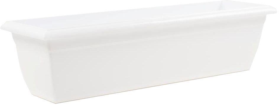 Балконный ящик Santino, цвет: белый, 60х15х15 смЯБ 600 БЕЛБалконный ящик Santino изготовлен из прочного пластика. Предназначен для выращивания комнатных растений, рассады.