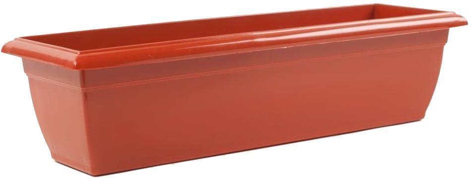Балконный ящик Santino, цвет: терракотовый, 60х15х15 смЯБ 600 ТЕРБалконный ящик Santino изготовлен из прочного пластика. Предназначен для выращивания комнатных растений, рассады.