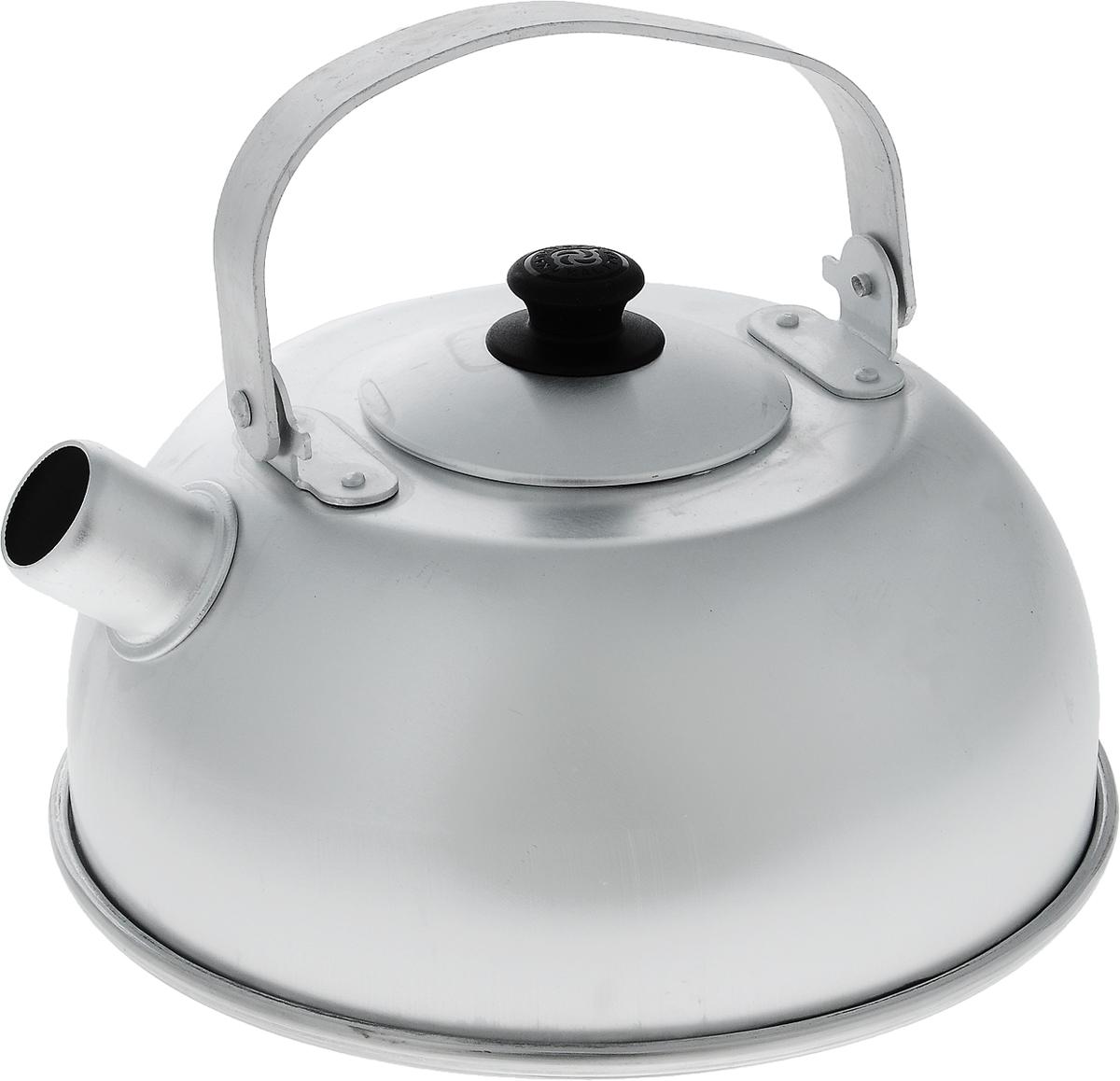 Чайник Kalitva, 5 л18502Чайник Kalitva выполнен из высококачественного литого алюминия. Благодаря хорошей теплопроводности алюминия, вода закипает в нем быстрее, чем в эмалированных чайниках. Изделие оснащено крышкой и удобной ручкой. Поверхность чайника гладкая, что облегчает уход за ним. Эстетичный и функциональный чайник будет оригинально смотреться в любом интерьере. Подходит для газовых, электрических и стеклокерамических плит. Высота чайника (без учета ручки и крышки): 11 см. Высота чайника (с учетом ручки и крышки): 22 см. Диаметр чайника (по верхнему краю): 10 см. Диаметр основания: 21,5 см.