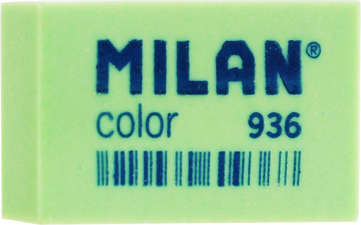 Milan Ластик Color 936 прямоугольный цвет зеленый34650_желтый, зеленыйЛастик Milan Color 936 предназначен для графитовых карандашей и перманентных чернил из цветного пластика.Наиболее эффективный для точного и аккуратного удаления контуров и штрихов, сделанных твердыми карандашами.