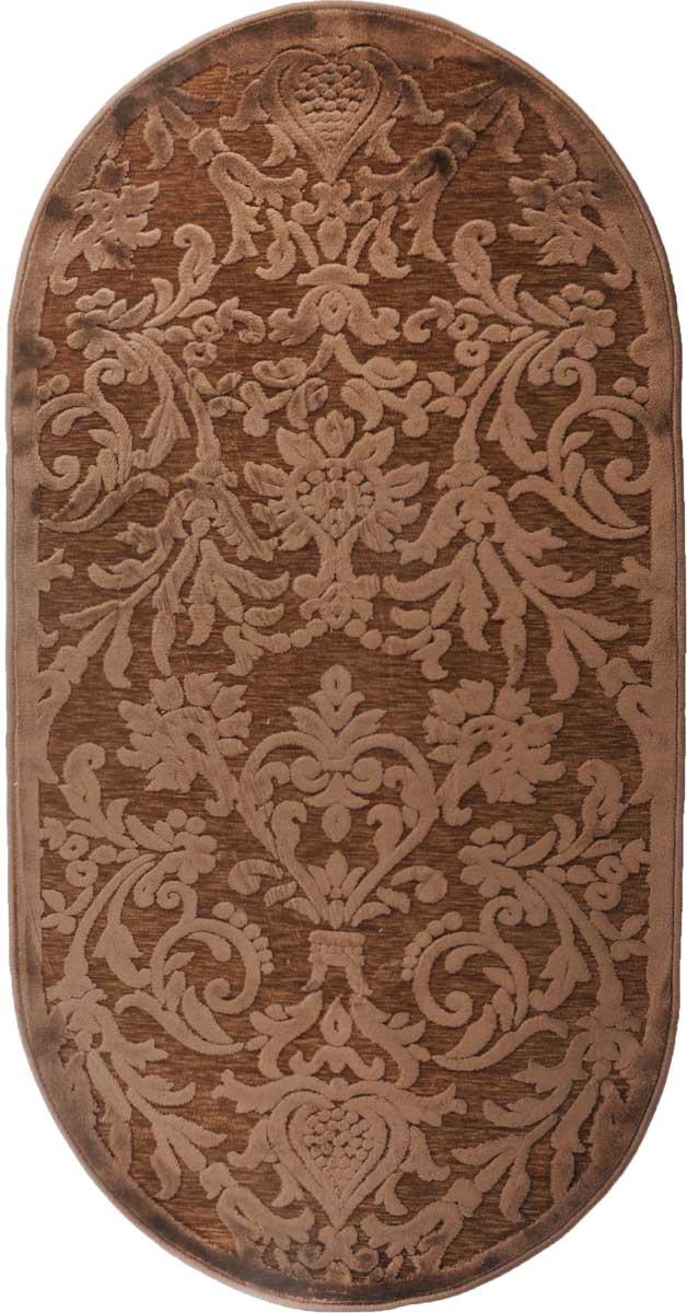 Ковер ART Carpets Платин, овальный, цвет: коричневый, 80 х 150 см203420130212182813Ковер ART Carpets Платин изготовлен из 100% акрила. Структура волокна гладкая, поэтому грязь не будет въедаться и скапливаться на ворсе. Практичный и Ф износоустойчивый ворс не истирается и не накапливает статическое электричество. Ковер обладает хорошими показателями теплостойкости и шумоизоляции. Оригинальный рисунок позволит гармонично оформить интерьер комнаты, гостиной или прихожей. За счет невысокого ворса ковер легко чистить. При надлежащем уходе ковер прослужит долго, не утратив ни яркости узора, ни блеска ворса, ни упругости. Самый простой способ избавить изделие от грязи - пропылесосить его с обеих сторон (лицевой и изнаночной). Хранить рекомендуется в свернутом рулоном виде.