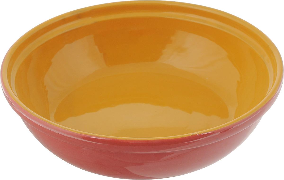 Салатник Борисовская керамика Модерн, цвет: темно-розовый, светло-оранжевый, 1 лРАД00000830_темно-розовый, светло-коричневыйСалатник Борисовская керамика Модерн выполнен из высококачественной глазурованной керамики. Этот удобный салатник придется по вкусу любителям здоровой и полезной пищи. Посуда термостойкая. Можно использовать в духовке и микроволновой печи.