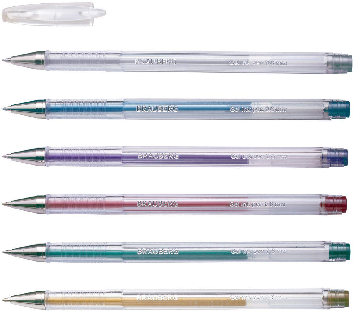 Brauberg Набор гелевых ручек Jet металлик 6 шт72523WDНабор Brauberg Jet включает в себя гелевые ручки ярких, запоминающихся, необычных цветов. Рекомендован для детского творчества. Ручки упакованы в мягкий пластиковый футляр.