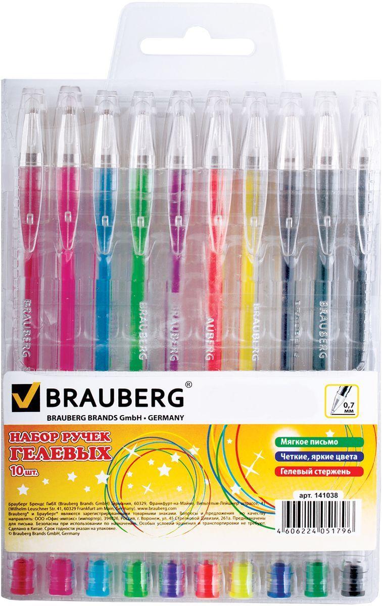Brauberg Набор гелевых ручек Jet 10 шт7710899Набор гелевых ручек Brauberg Jet состоит из десяти разноцветных ручек. Они отлично подойдут и для школы и для офиса.Ручки с пластиковым упором пишут разными цветами, а их корпус выполнен из качественных материалов. Диаметр шарика каждой ручки 0,7 мм.Удобный набор гелевых ручек Brauberg Jet станет незаменимой канцелярской принадлежностью для вас или для вашего ребенка.
