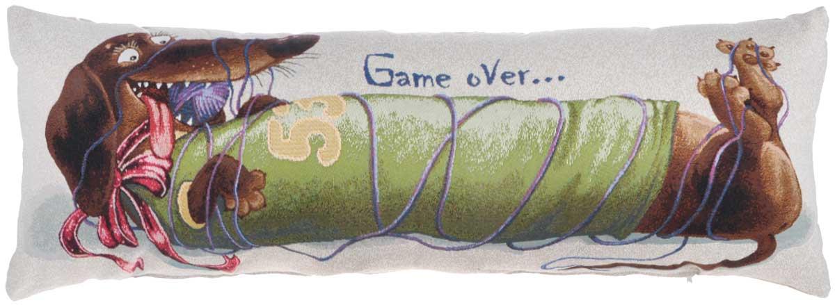 Подушка декоративная Рапира Баловни. Игра закончена, 35 х 90 см12245Декоративная подушка Рапира Баловни. Игра закончена изготовлена из хлопка и полиэфира. Изделие очень прочное и нежное на ощупь. Лицевая сторона подушки имеет яркий рисунок. Чехол подушки снабжен удобной молнией. Такая подушка станет приятным дополнением к интерьеру любой комнаты.Размер подушки: 35 х 90 см.