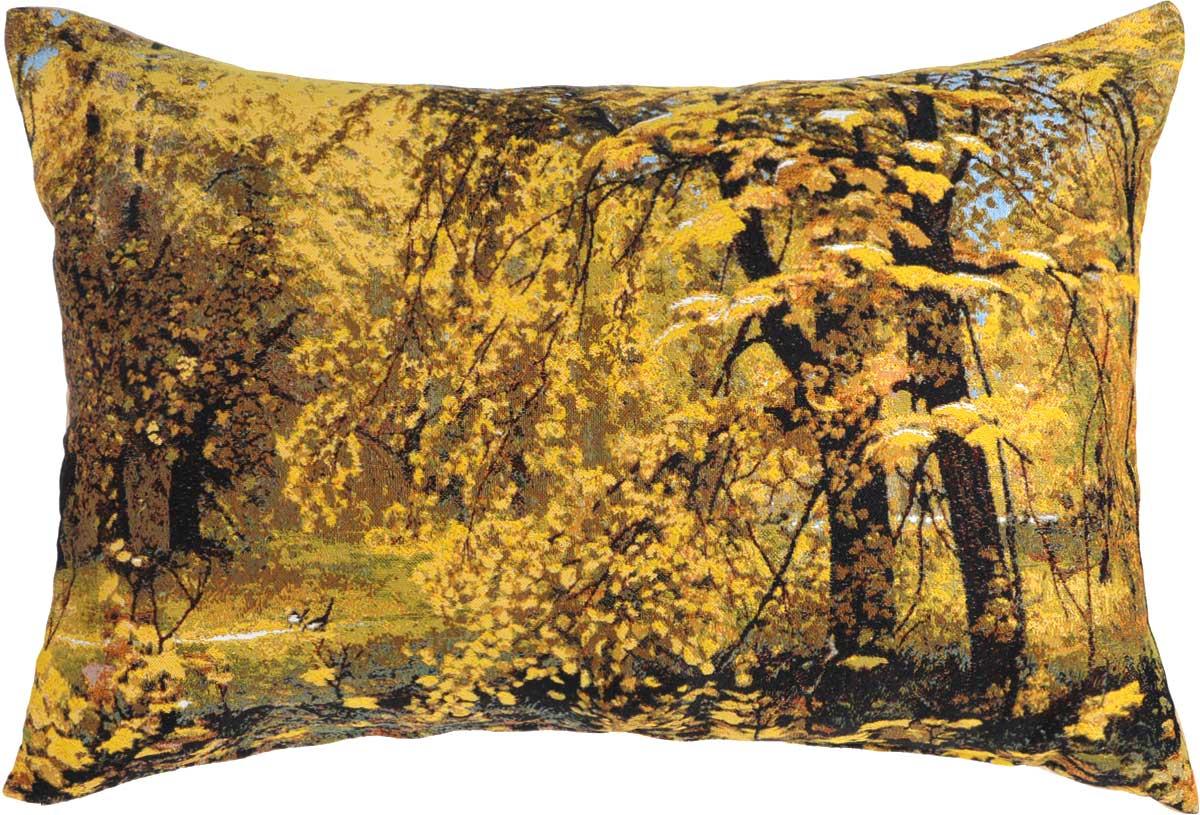 Подушка декоративная Рапира Осень Ильи Остроухова, 45 х 67 см4702Декоративная подушка Рапира Осень Ильи Остроухова изготовлена из хлопка и полиэфира. Изделие очень прочное и нежное на ощупь. Лицевая сторона подушки имеет яркий рисунок. Чехол подушки снабжен удобной молнией. Такая подушка станет приятным дополнением к интерьеру любой комнаты. Размер подушки: 45 х 67 см.