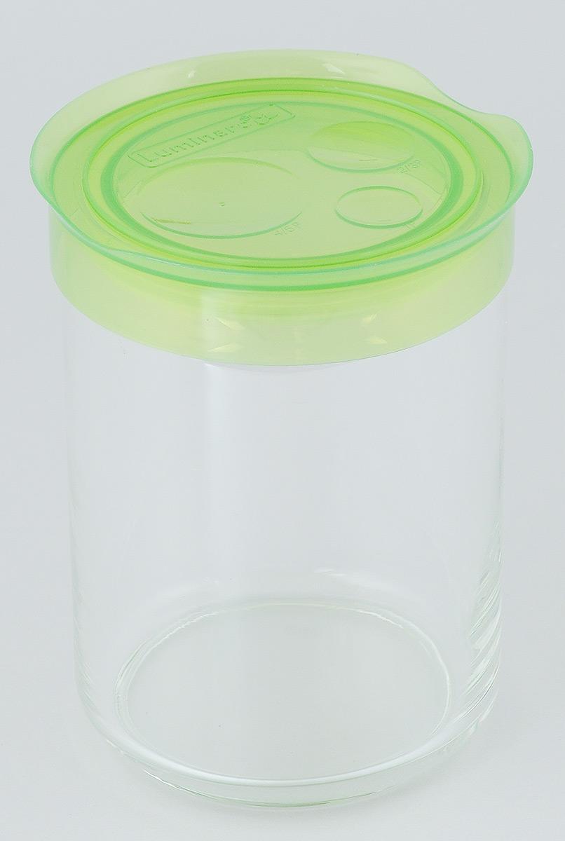 Банка для сыпучих продуктов Luminarc Storing Box, с крышкой, цвет: светло-зеленый, 1 лJ2257Банка Luminarc Storing Box, выполненная из высококачественного стекла, станет незаменимым помощником на кухне. В ней будет удобно хранить разнообразные сыпучие продукты, такие как кофе, сахар, соль или специи. Прозрачная банка позволит следить, что и в каком количестве находится внутри. Банка надежно закрывается пластиковой крышкой, которая снабжена резиновым уплотнителем для лучшей фиксации. Такая банка не только сэкономит место на вашей кухне, но и украсит интерьер. Объем: 1 л. Диаметр банки (по верхнему краю): 9 см. Высота банки (без учета крышки): 14,5 см.