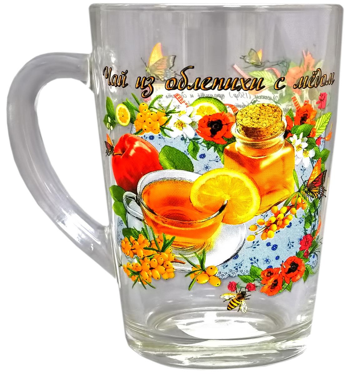Кружка чайная Квестор Каппучино. Чай из облепихи с медом, 300 мл103-009Кружка чайная Квестор Каппучино. Чай из облепихи с медом, 300 мл