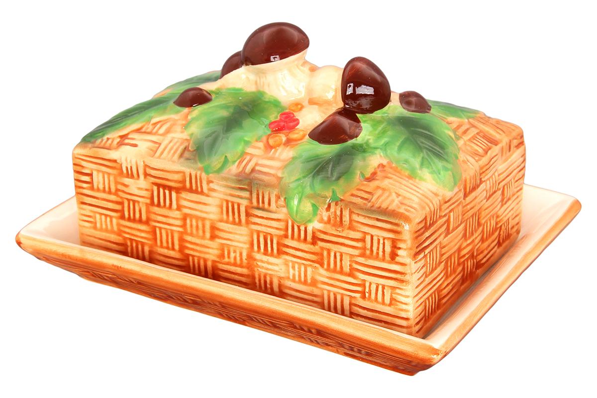 Масленка Elan Gallery Грибы 16 х 12 х 9,2 см110706/грибы/Классическая масленка может использоваться и как паштетница. Крышка сохранит продукты от заветривания и сохранит свежесть Ваших продуктов на долгое время.