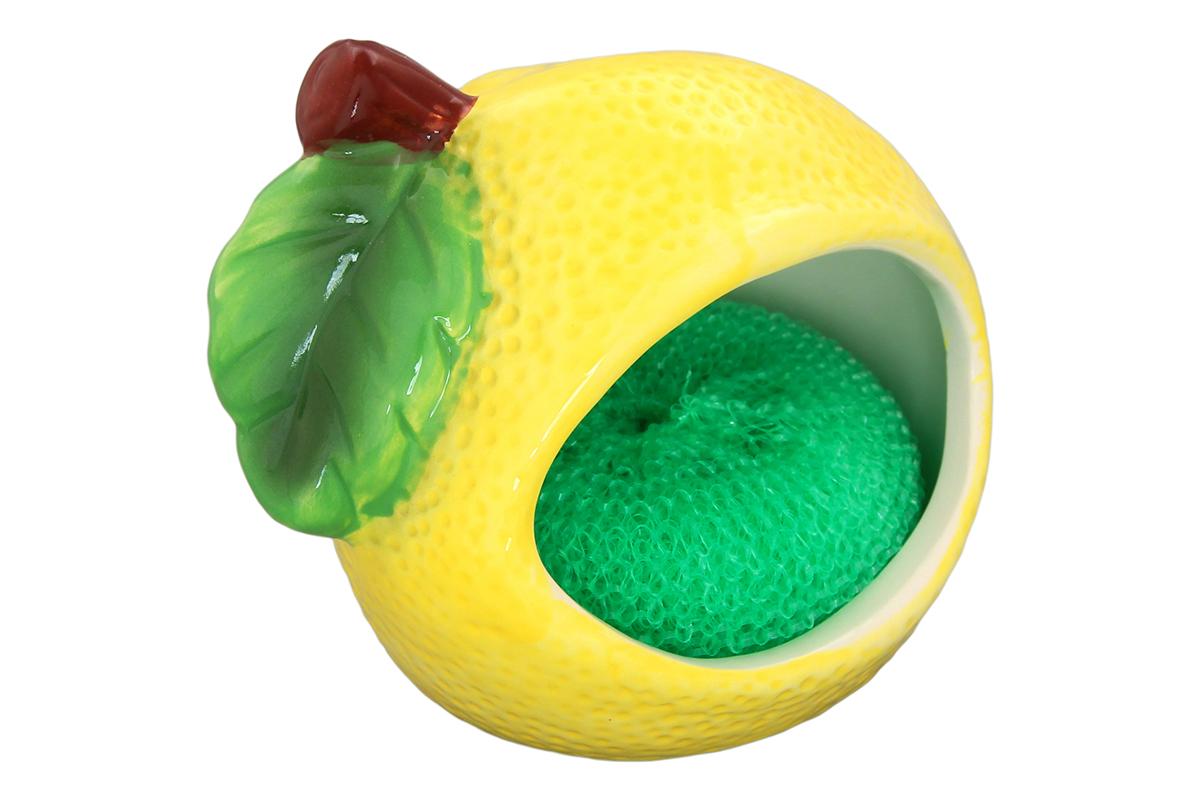 Подставка для губки Elan Gallery Лимон, с губкой, 12 х 8,8 х 10,5 см110717/лимон/Яркий и полезный аксессуар для кухни. Губка из полипропилена в комплекте.