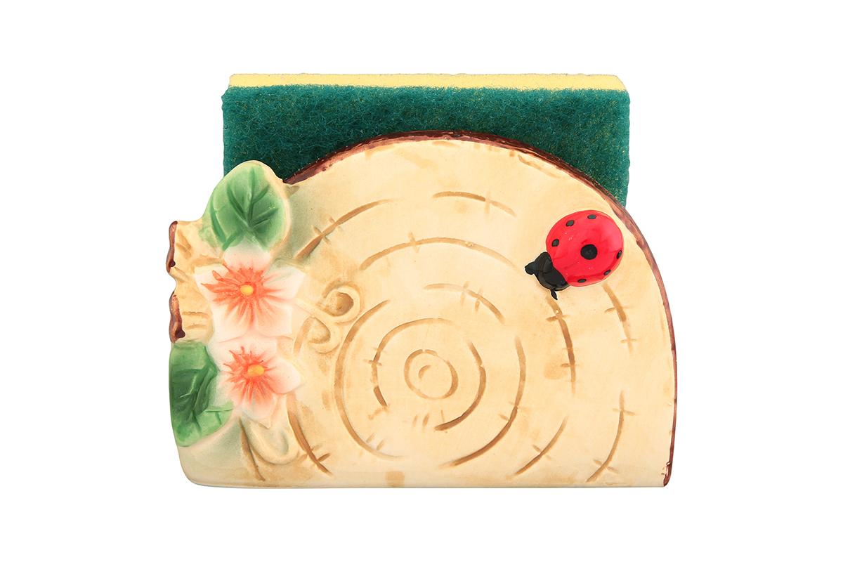 Подставка для губки Elan Gallery Бревнышко, с губкой, 11,5 х 5,5 х 8 см110734/бревнышко/Яркий и полезный аксессуар для кухни. Губка в комплекте.