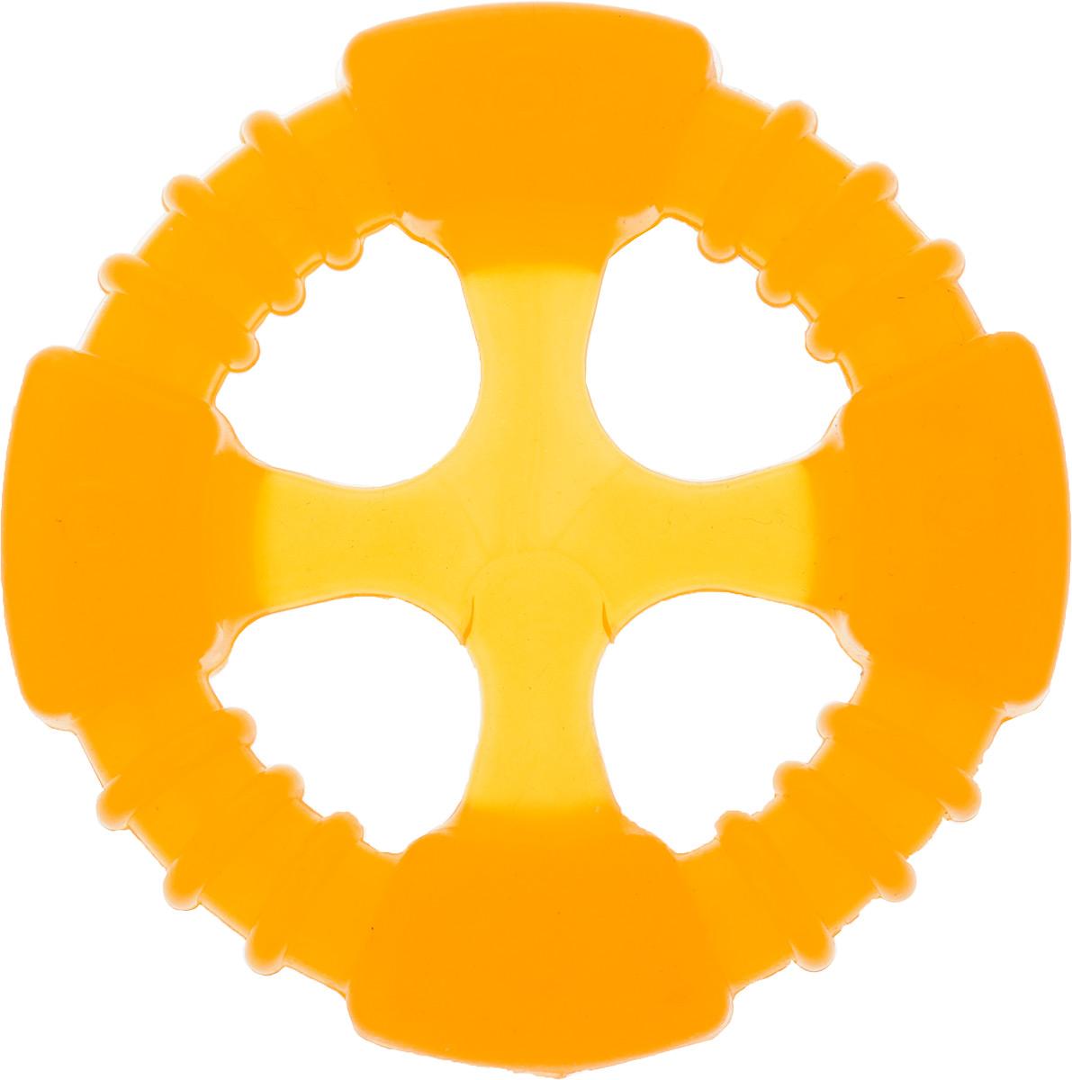 Игрушка для собак Doglike Кольцо Космос, 10 х 10 х 2 смD12-1104Игрушка Doglike Кольцо Космос служит для массажа десен и очистки зубов от налета и камня, а также снимает нервное напряжение. Игрушка выполнена из резины. Она прочная и может выдержать огромное количество часов игры. Это идеальная замена косточке. Если ваш пес портит мебель, излишне агрессивен, непослушен или страдает излишним весом то, скорее всего, корень всех бед кроется в недостаточной физической и эмоциональной нагрузке. Порадуйте своего питомца прекрасным и качественным подарком.