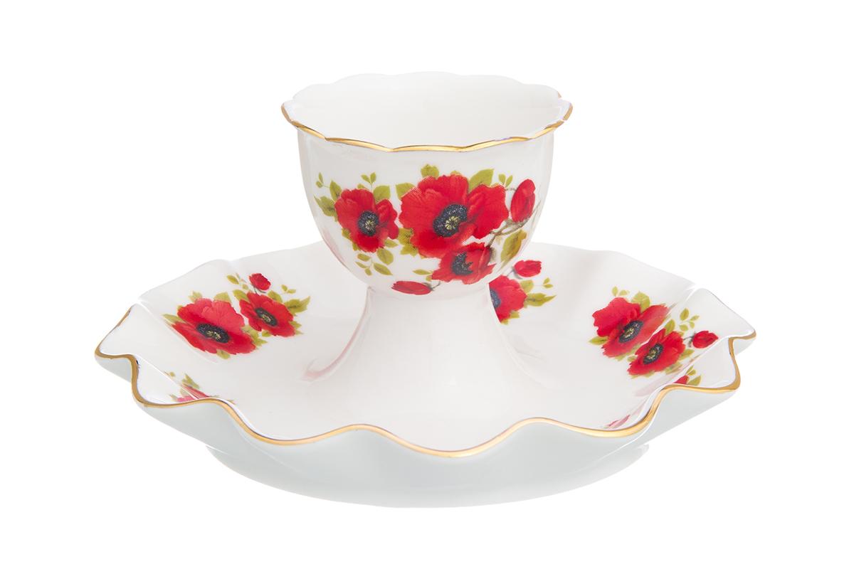 Подставка под яйцо Elan Gallery Маки, 11,5 х 11,5 х 6 см115610Подставка под яйцо Elan Gallery Маки, изготовленная из керамики, декорирована изображением цветов.Такая подставка красиво смотрится на столе и обязательно придется по вкусу любителям разных интерьерных мелочей. Объем подставки: 25 мл. Размер подставки: 11,5 х 11,5 х 6 см.