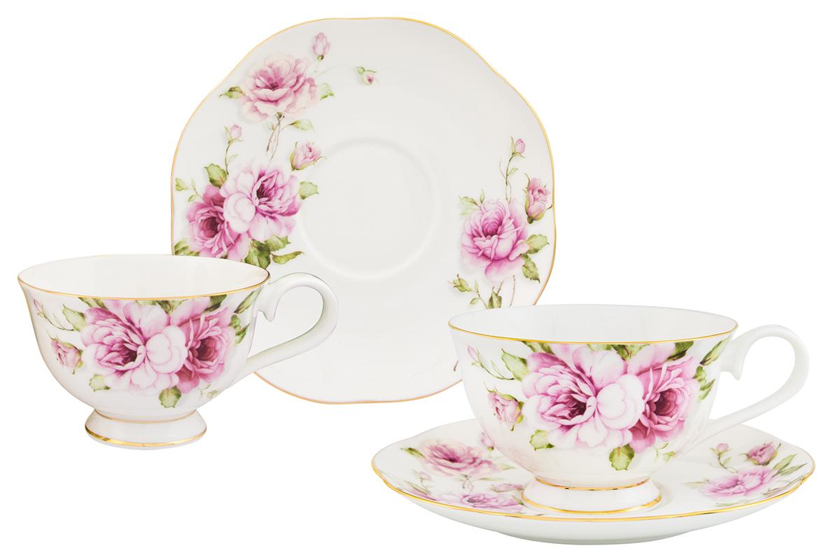 Чайная пара Elan Gallery Амалия 4 предмета530070/амалияИзысканный чайный набор с цветочным декором на 2 персоны украсит Ваше чаепитие. В комплекте 2 чашки объемом 220 мл, 2 блюдца. Изделие имеет подарочную упаковку, поэтому станет желанным подарком для Ваших близких! Соберите всю коллекцию предметов сервировки Амалия и Ваши гости будут в восторге!