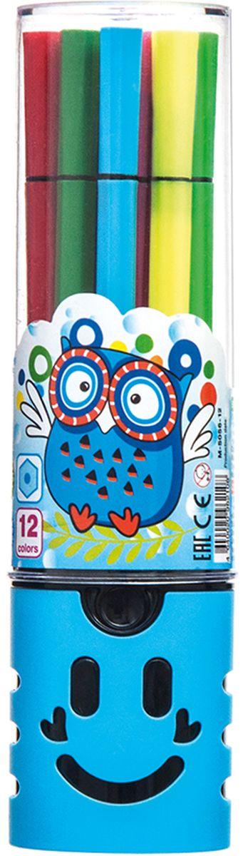 Mazari Набор фломастеров Junior 12 цветов М-5056-12610842Фломастеры JUNIOR, 12цв., вентилируемый колпачок, в пластиковом тубусе
