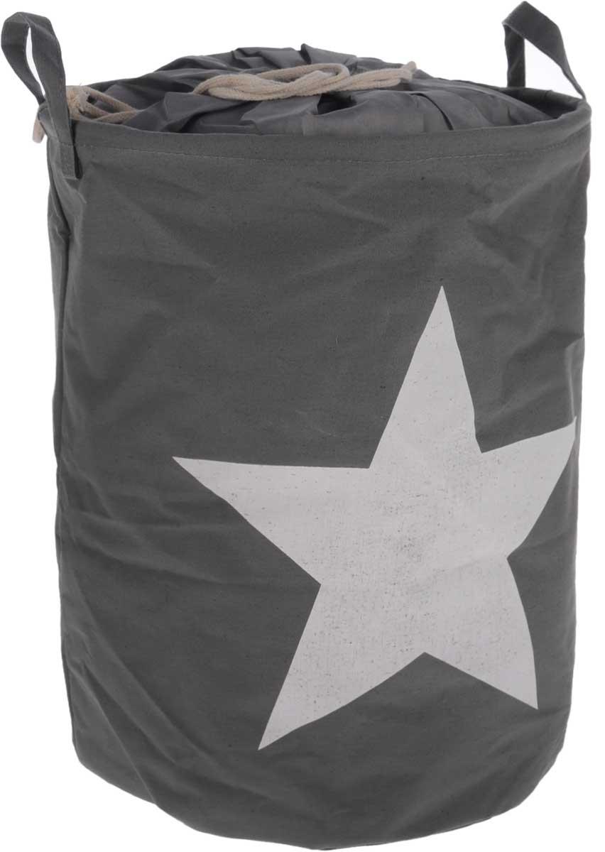 Корзина для белья Tatkraft Star, складная, 43 л15302Корзина для белья Star, выполненная из полиэстера и хлопка, предназначена для хранения белья перед стиркой. Корзина очень легко собирается. Внутренняя часть корзины водонепроницаемая. Изделие снабжено удобными ручками и шнурками для затягивания. Корзина для белья Star - это функциональная и полезная вещь, которая не только сохранит ваше белье, но и стильно украсит интерьер помещения. Диаметр корзины: 35 см. Высота корзины: 45 см.