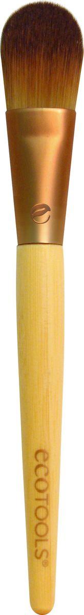 EcoTools Кисть для тональной основы Foundation Brush1202МПлотно набитая плоская кисть идеально подойдет для равномерного нанесения кремовых и жидких тональных основ. Используйте ее для создания безупречно ровного тона, а также для маскировки несовершенств и темных кругов под глазами.