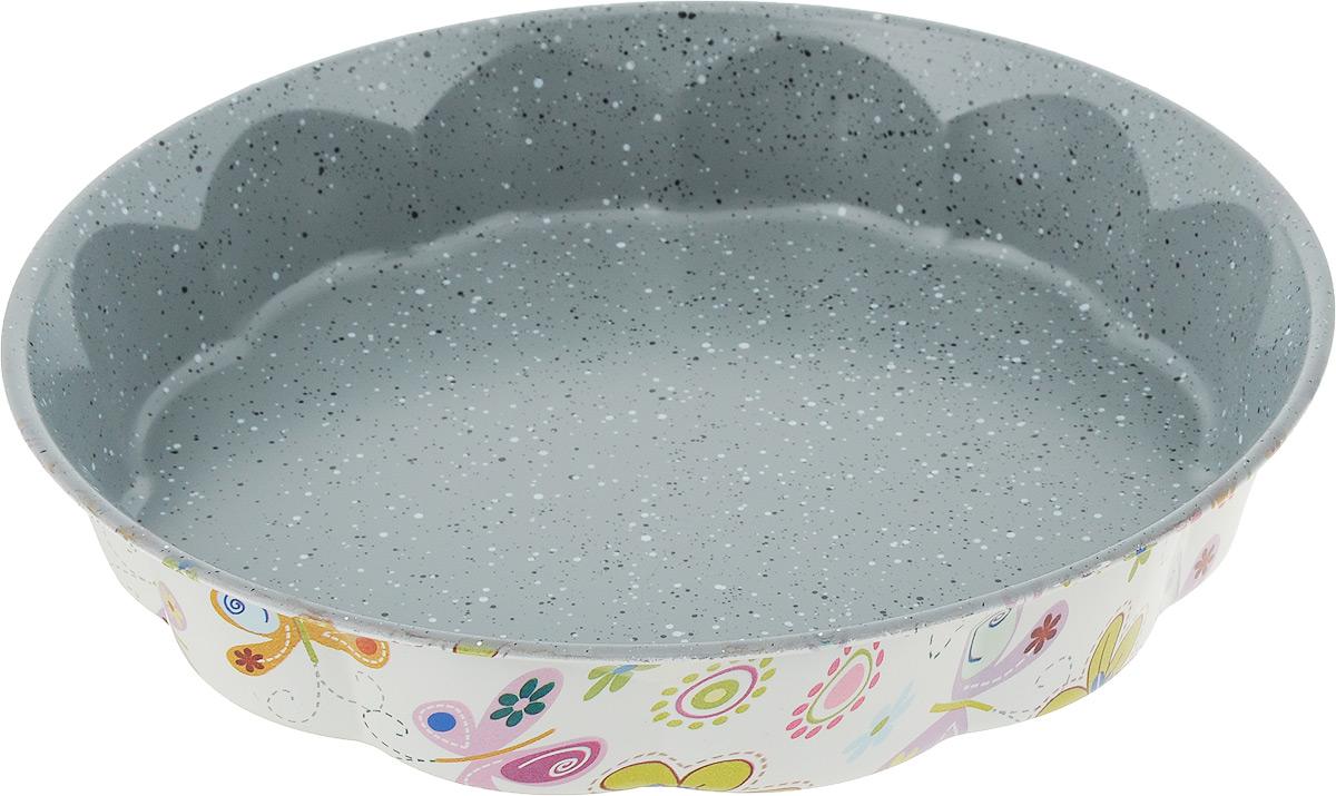 """Форма для выпечки пирога """"Fissman"""", круглая, с антипригарным покрытием, диаметр 28 см"""