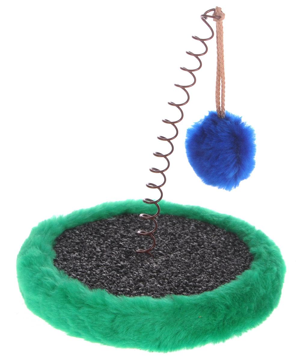 """Когтеточка Зоомарк """"Мини"""", с игрушкой, цвет: серый, зеленый 004_серый, зеленый"""