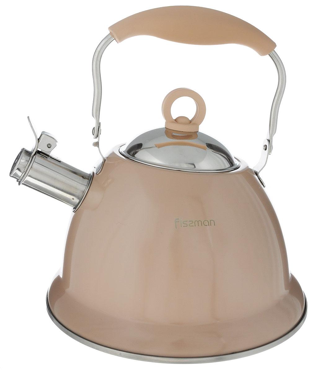 Чайник Fissman Florence, со свистком, цвет: кофейный, 2,6 лKT-5934.2.6_кофейныйЧайник Fissman Florence изготовлен из высококачественной нержавеющей стали 18/10. Нержавеющая сталь обладает высокой устойчивостью к коррозии, не вступает в реакцию с холодными и горячими продуктами и полностью сохраняет их вкусовые качества. Особая конструкция капсулированного дна способствует высокой теплопроводности и равномерному распределению тепла. Чайник оснащен удобной ручкой с силиконовым покрытием. Носик чайника имеет откидной свисток, звуковой сигнал которого подскажет, когда закипит вода. Благодаря чайнику Fissman Florence, вы будете постоянно ощущать тепло и уют на вашей кухне. Подходит для газовых, электрических, стеклокерамических, индукционных плит. Можно мыть в посудомоечной машине. Диаметр чайника (по верхнему краю): 9,5 см. Высота чайника (без учета крышки и ручки): 13 см. Высота чайника (с учетом ручки): 25,5 см. Диаметр индукционного диска: 18,5 см.