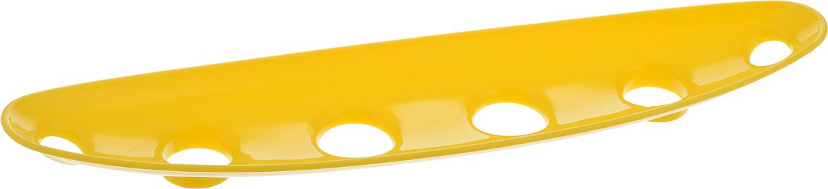 Миска для фруктов и овощей Tescoma Vitamino, продольная, цвет: желтый, 35 х 8 х 2,5 см642786_желтыйПродольная миска Tescoma Vitamino выполнена из высококачественного прочного пластика. Изделие прекрасно подходит для хранения свежих свежих фруктов и овощей, например, яблок, груш, слив, мандаринов, помидоров, а также для ополаскивания их под проточной водой. Миска оснащена большими отверстиями для максимального доступа воздуха к хранимым продуктам. Фрукты и овощи в таком изделии дозревают естественным путем и дольше остаются свежими. Подходит для холодильника и посудомоечной машины. Размер миски: 35 х 8 х 2,5 см.