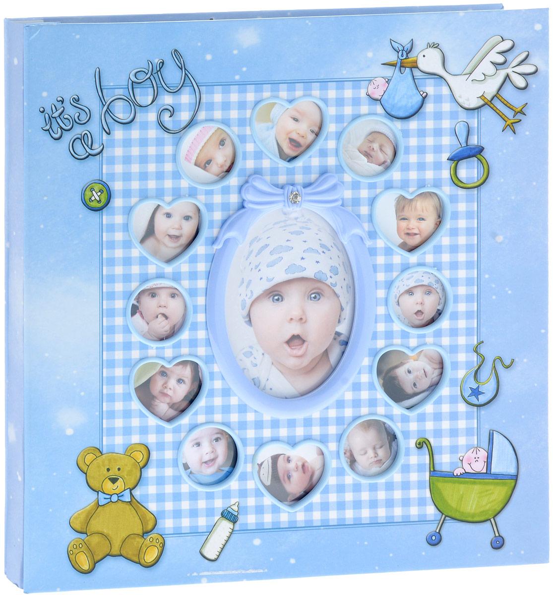 Фотоальбом Platinum Первые 12 месяцев, 30 листов, цвет: голубой. 9840-303М1425_голубой/9840-30Фотоальбом Platinum Первые 12 месяцев, изготовленный из картона с клеевым покрытием и пленки ПВХ, поможет сохранить вам самые важные и счастливые события жизни вашего ребенка. Этот альбом станет драгоценной памятью для всей вашей семьи. Обложка выполнена из толстого картона и оформлена милыми изображениями. Лицевая сторона обложки оснащена 13 окошками для фотографий вашего ребенка. Внутри содержится 30 магнитных листов. Альбом с магнитными листами удобен тем, что он позволяет размещать фотографии разных размеров. Нам всегда так приятно вспоминать о самых счастливых моментах жизни, запечатленных на фотографиях. Размер листа: 28 х 32,5 см.
