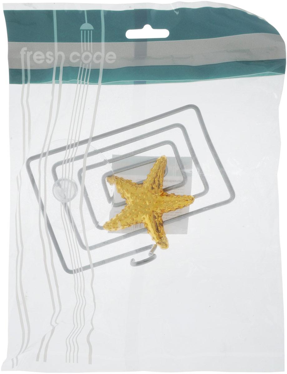 Мыльница Home Queen Морская звезда, цвет: золотой, стальной, 12 х 9 х 9 см56442_звездаМыльница Home Queen Морская звезда выполнена из хромированной стали и украшена пластиковой фигуркой. Крепится к стене при помощи присоски. Такая мыльница прекрасно подойдет для ванной комнаты или кухни.
