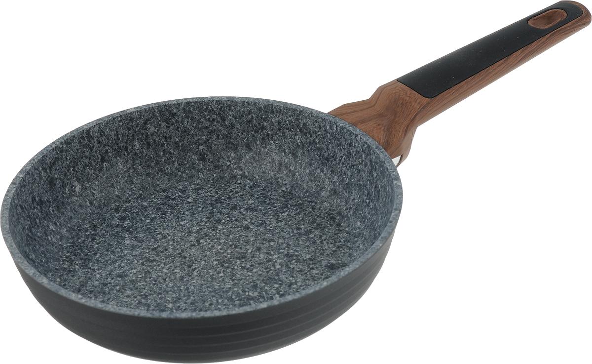 Сковорода Fissman Diamond Grey, с антипригарным покрытием. Диаметр 20 смAL-4301.20Сковорода Fissman Diamond Grey изготовлена из литого алюминия с новым 5-слойным профессиональным покрытием EcoStone. Это устойчивое к царапинам и износу покрытие, усиленное вкраплениями каменных частиц. Усовершенствованная технология обеспечивает наилучшие эксплуатационные свойства, прочность и долговечность. Толстое дно сковороды рационально распределяет тепло, а удобная ручка из бакелита не нагревается и не скользит в руках. Уникальный, притягивающий дизайн сковороды Fissman Diamond Grey не оставит вас равнодушными. Подходит для газовых, электрических, стеклокерамических плит, а также индукционных. Можно мыть в посудомоечной машине. Высота стенки: 4,5 см. Длина ручки: 18 см.