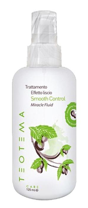Teotema Разглаживающий флюид 125 млTEO 4806Разглаживающий флюид Teotema Smooth Control Miracle Fluid позволяет добиться идеально гладких волос благодаря высокой концентрации разглаживающего комплекса, который активируется при температурном воздействии феном или стайлером. Средство помогает защищает волосы от влажности и пушения. Активные ингредиенты: Кератин Кашемира: Обладает сильными увлажняющими свойствами, проникает в кутикулу, предотвращая ломкость волос. Серицин, Масло Кокоса: Обладают разглаживающими и заполняющими свойствами. Система Наночастиц: Частицы создают систему полимеров, формирующих влагонепроницаемую эластичную пленку. Под воздействием температуры (фен, стайлер) эта пленка кристаллизируется на поверхности волоса (термальная кристаллизация), разглаживает и изолирует от влажности. Витамин E: Питает волосы, обеспечивает блеск, обладает антиокислительным действием, сохраняя кожу головы и волосы здоровыми.